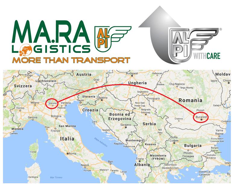 transport marfa Verona-Bucuresti